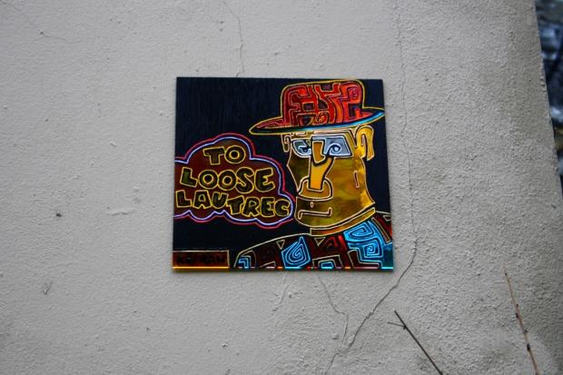 to loose Lautrec ( face au musée du chat noir)
